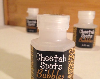 8-pack Cheetah Spots Mini Bubbles - Animal Print Party Favor