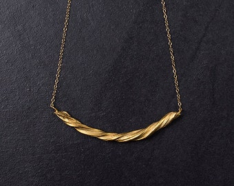 Golden Crescent Necklace