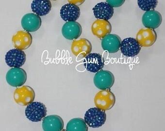 Custom Monogrammed Bottle Cap Bubble Gum Necklace