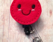 Phlebotomist happy blood drop badge reel -- phlebotomist, lab tech, medical professional