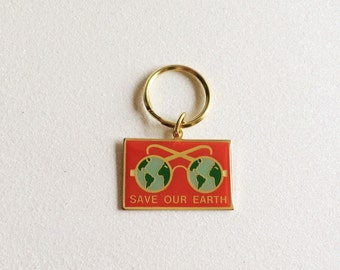 VTG Save Our Earth Keychain
