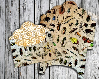 INSECT - Printable Download Digital Collage Sheet Envelope with print on reverse side - Print and Cut