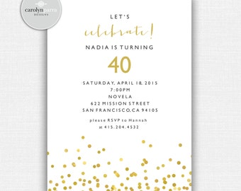 Confetti Celebrate Invitation