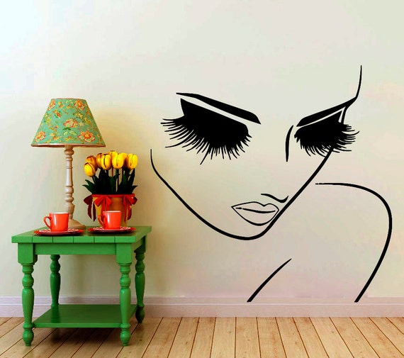 Wall decals hairdressing hair beauty salon decal vinyl sticker - Stickers muraux chambre adulte ...