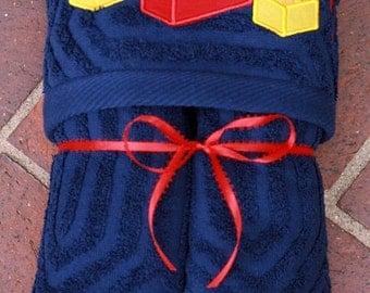 Lego Hooded Towel -- Free personalization