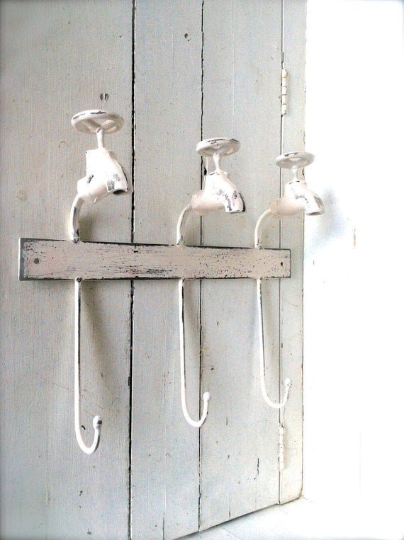 Items Similar To Shabby Chic Bathroom Decor, Towel Hook, Towel Hanger, Iron  Decor