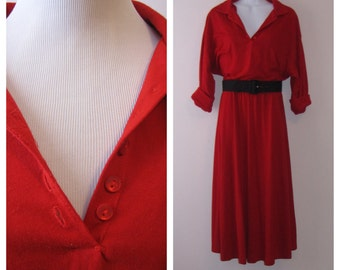 Vintage 1980s Walden Classics Red Dress
