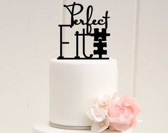 Perfect Fit Puzzle Wedding Cake Topper - Custom Cake Topper