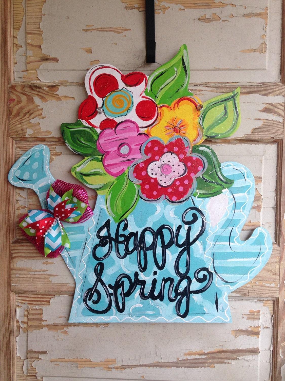 Spring door hanger summer door hanger spring decor for Decoration hangers