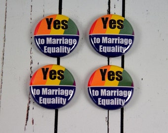Marriage Equality Button, LGBT Marriage Equality Badge, Support Marriage Equality, Gay Pride