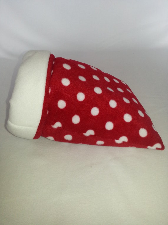 Large Padded Guinea Pig Sleeping Bag/Snuggle Sack (Red&WhitePolkaDots ...