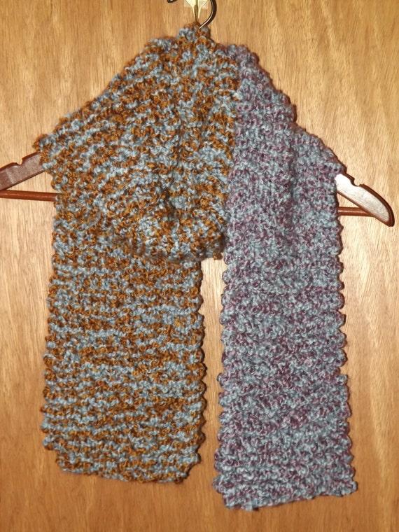 Knitting Garter Stitch Scarf : Long knit scarf unisex soft bulky texture by