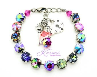 HELLO SUNSHINE 8mm Crystal Bracelet Made With Swarovski Elements *Pick Your Finish *Karnas Design Studio *Free Shipping*