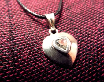 Heart Pendant Silver Sterling 925 Handmade Necklace Jewelry Love Valentine 3
