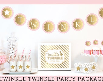 twinkle twinkle baby shower decorations twinkle little star baby shower baby girl baby shower themes
