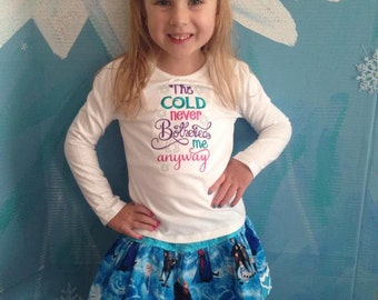 Custom Boutique Frozen Twirl Skirt