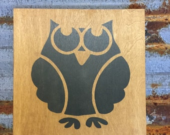 Owl - Handmade Wood Sign