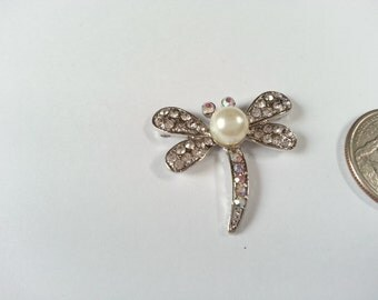 Pearl Dragonfly Needle Minder
