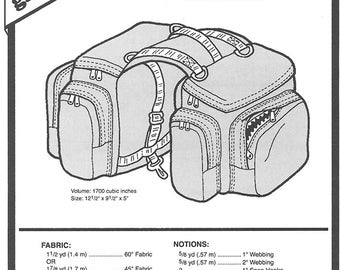 Sewing Pattern - Cascade Bicycle Saddle Bags, Bicycle Bag Pattern, Green Pepper Patterns - GP 201