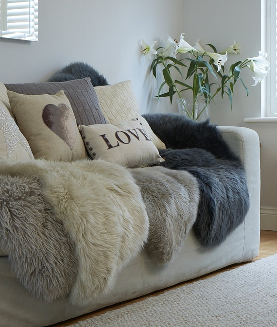 STUNNING Neutral Sheepskin Rugs In Super Soft Thick