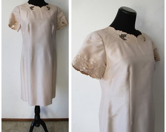 1990s Manjula Inc Dress |L/XL| Material Collections