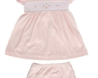 Peruvian Cotton Girly Baby Dress - Smock Embroidered
