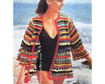 Crochet Beach Cover Up Pattern Womens Wrap Beach Jacket Crochet Pattern PDF - C113