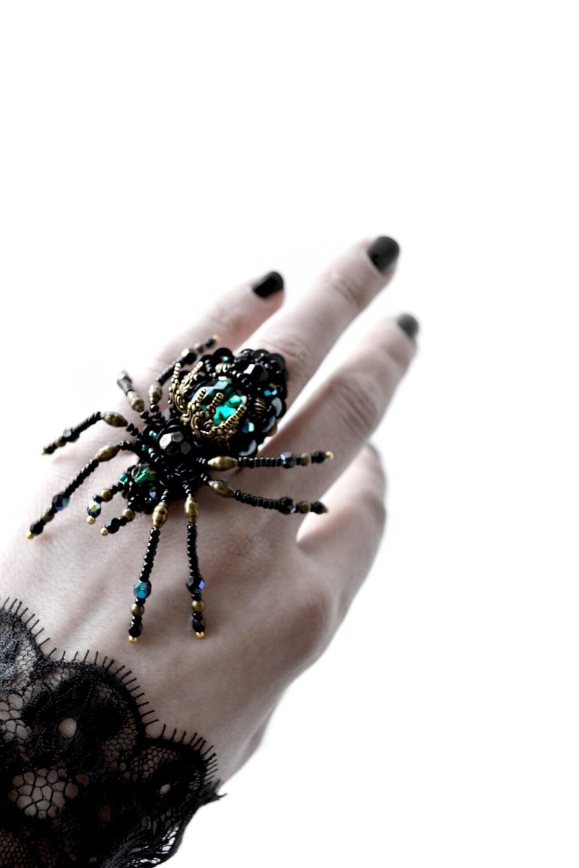 spider jewelry ring statement ring jewelry