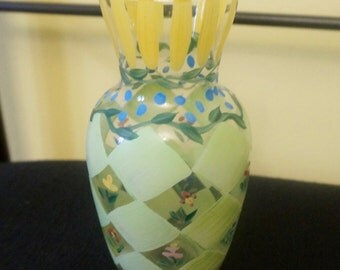 "Vintage ""Hand-Painted Vase""  Approx. 6x3 Inches"
