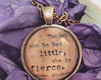 Shakespeare Bookworm Necklace