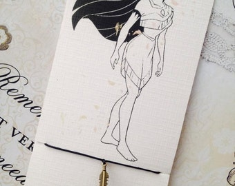 Vintage Handmade Pocahontas 'Feather' Charm Bracelet