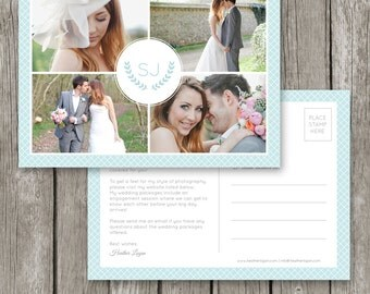 Marketing Postcard for Photographers - Wedding Photography Photo Marketing Flyer - Marketing Template - MC02