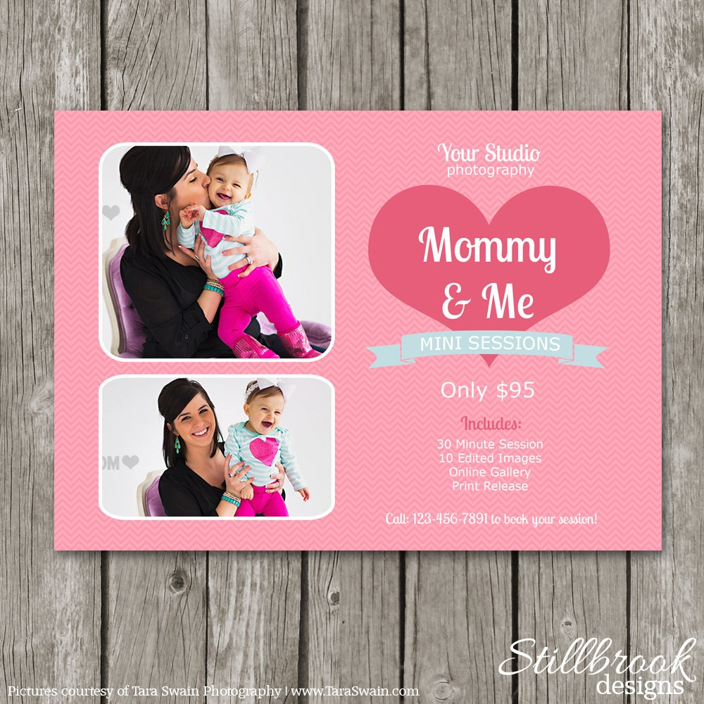 Mom & Me Mini Session Template Mommy And Me Marketing Board