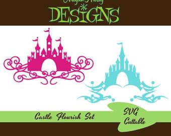 SVG Castle Flourish Set