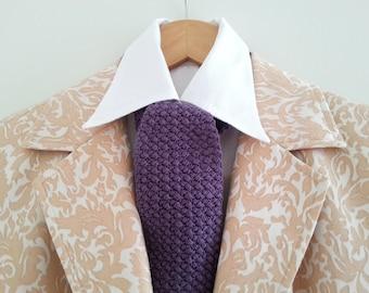 FREE SHIPPING. Purple dapper necktie. Dapper cravat. Victorian style cravat. Purple cravat. Gatsby cravat necktie. Dandy cravat necktie
