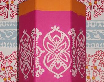 Vintage-style flexible print stamp BlokPrintz 'GOA' Decorative wall/object block print  - Print Your House With Paint!
