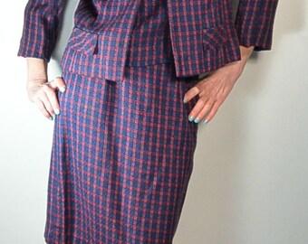 3 Piece Women's Suit// Matching 60s Outfit// Mad Men Business Suit