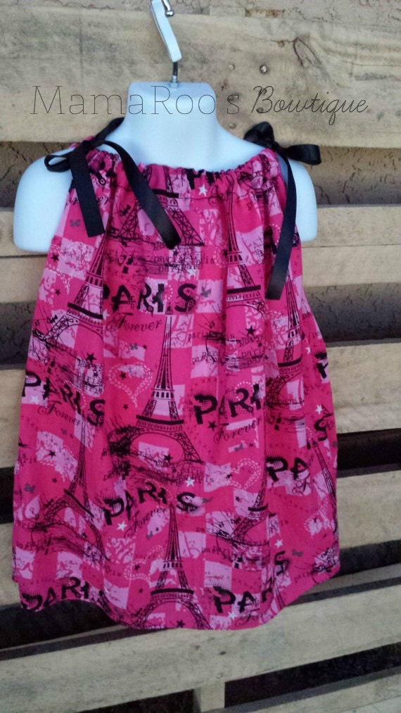 Pink Paris Bandana Dress. Baby Girl. Toddler Girl. Baby Clothing. Girls Dress. Girls Clothing. Handmade.