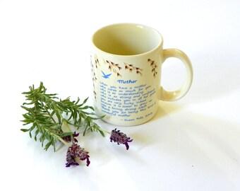 Vintage Mother's Day Mug, New Mom Gift, Mom's Coffee Mug Present, Original Quote Susan Polis Shultz
