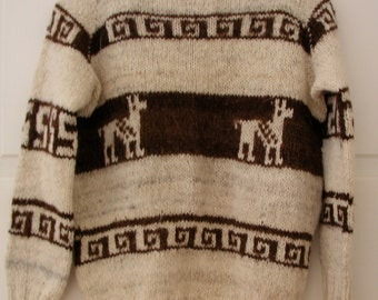 Pullover sweater from Cusco, Perú in undyed Andean fibers