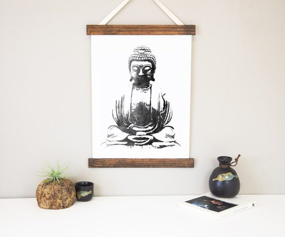 Items similar to yoga wall decor buddha wall hanging yoga for Yoga decorations home