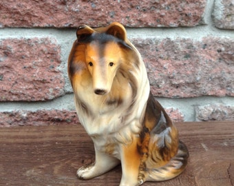 Dog Figurine, Collie, Dog Statue Collie, Big Dog, Dog Lover, Dog Statue