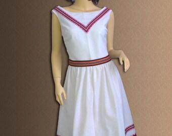 Ukrainian Dress - embroidered women's dress. Size xxs, xs, s, m, l, xl, xxl.