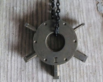 I Am- Industrial Hardware Necklace