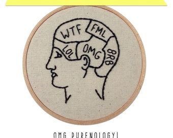 OMG Phrenology! DIY Embroidery Kit