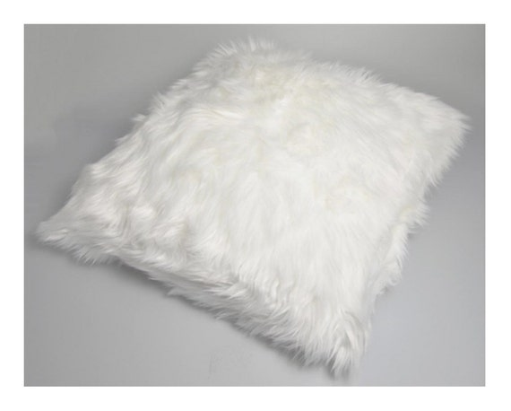 White very soft fur pillow cover decorative pillow by for White faux fur pillow