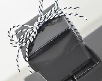 Mini Cube Boxes - Black (set of 12)