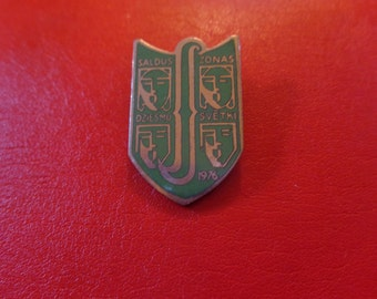 Song Festival in Saldus, Latvia, Pin from Cold War Era * 1976 USSR