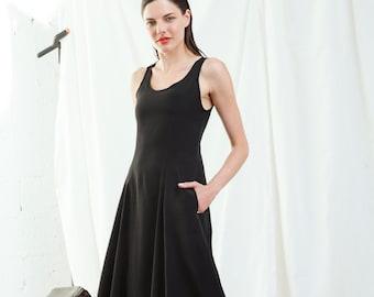 SUMMER SALE , Black Maxi Dress, Party Dress, Black Evening Dress, Black Dress