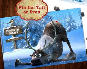 Pin the Tail on Sven Frozen Party Game